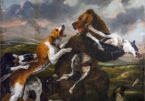 Bemberg fondation Toulouse - La chasse à l'ours - Jan Fyt 218.5x183 inv.1021